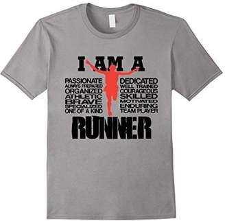 I Am A Runner Cool Motivational Graphic Tee Shirt