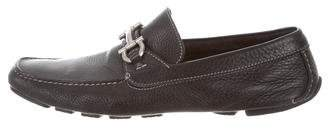 Salvatore Ferragamo Gancio Leather Driving Loafers