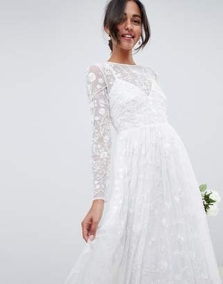 Asos Edition EDITION all over embellished and embroidered wedding dress