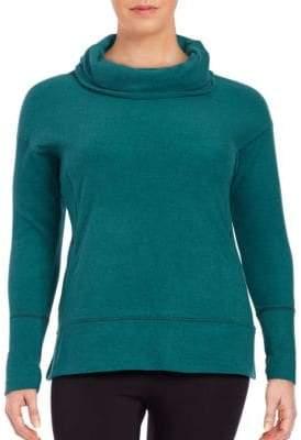 Andrew Marc Performance Plus Cowl-Neck Knit Performance Sweatshirt