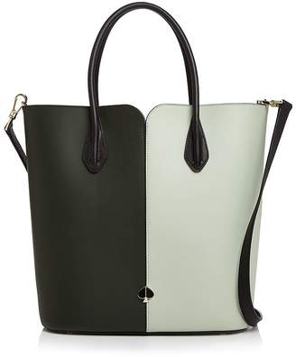 Kate Spade Large Color-Block Leather Tote Bag