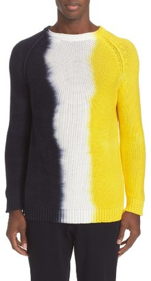 Men's Tomorrowland Dip Dye Cotton Pullover $575 thestylecure.com