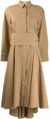 Brunello Cucinelli asymmetric midi dress