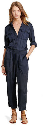 Ralph Lauren Denim & Supply Satin Utility Jumpsuit $225 thestylecure.com