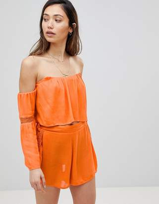 Influence CO-ORD Off Shoulder Beach Top