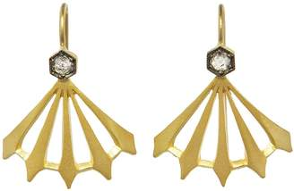 Cathy Waterman Diamond Big Top Earrings - Yellow Gold
