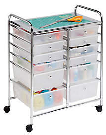 Honey-Can-Do 12-Drawer Chrome Studio OrganizerCart
