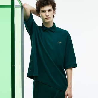 Lacoste Men's Fashion Show Loose Fit Buttoned Sleeves Polo