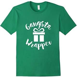Gangsta Wrapper Rapper Funny Saying Script T-shirt (Dark)