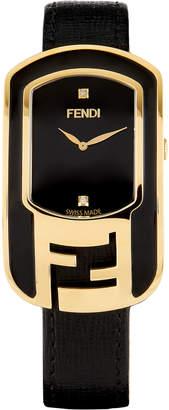 Fendi Chameleon Two-Tone Enamel & Yellow Golden Watch