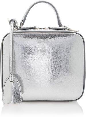 Mark Cross Baby Laura Metallic Leather Handbag