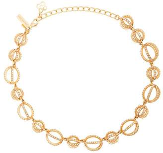 Oscar de la Renta pave globe necklace