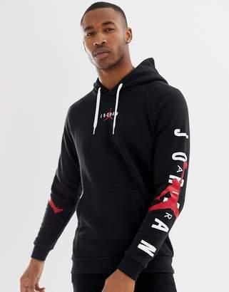 Jordan Nike Logo Pullover Hoodie In Black AT4911-010