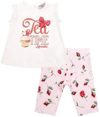 MonnaLisa Tea Time T-shirt And Leggings Set