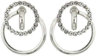Steve Madden Interlock Ring Casted Post Earrings Earring