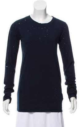 Balmain Distressed Long Sleeve T Shirt