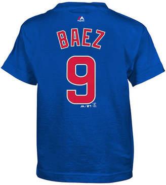 Majestic Javier Baez Chicago Cubs Official Player T-Shirt, Little Boys (4-7)