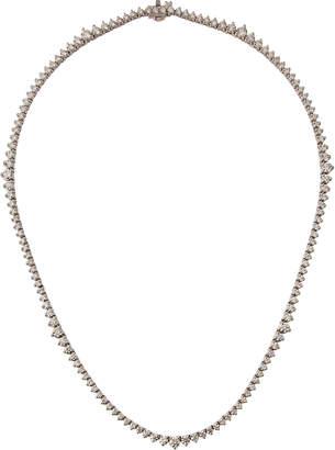 Diana M. Jewels 18k White Gold Diamond Tennis Necklace, 7.3tcw