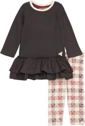 Burt's Bees Baby Thermal Ruffle Dress & Leggings Set