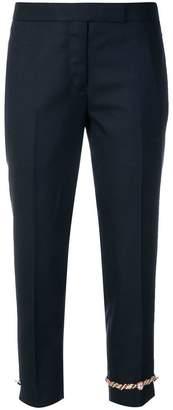 Thom Browne cuff appliqué cropped trousers