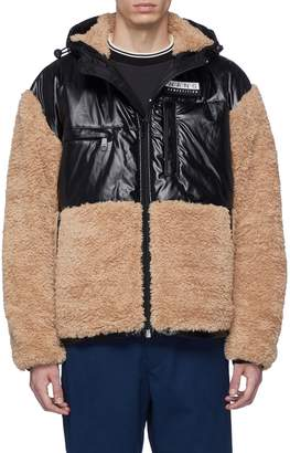 Alexander Wang Faux shearling panel hooded parka