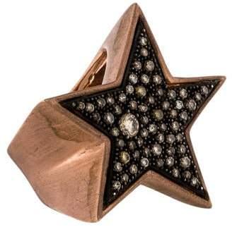 Parulina 10K Brown Diamond Star Ring