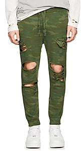NSF Men's Jay Camouflage Cotton Jogger Pants-Green