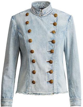 Ralph Lauren Denim & Supply Denim Officer's Jacket $298 thestylecure.com