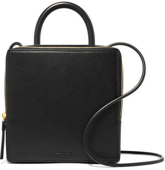 Building Block Box Leather Shoulder Bag - Black