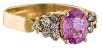 Le Vian Pink Sapphire & Diamond Ring $795 thestylecure.com