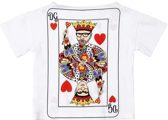 Dolce & Gabbana Kings Printed Cotton Jersey T-Shirt