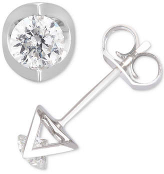 Macy's Diamond Geometric Stud Earrings (5/8 ct. t.w.) in 14k White Gold