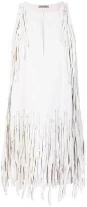 Bottega Veneta eyelet fringed dress