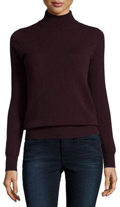 Neiman Marcus Cashmere Collection Classic Long-Sleeve Cashmere Turtleneck $250 thestylecure.com