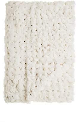 Adrienne Landau Crocheted Rabbit Fur Throw