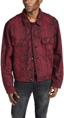 Alexander Wang Snakeskin Printed Denim Jacket