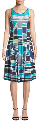 Nic+Zoe Going Places Sleeveless Twirl Dress