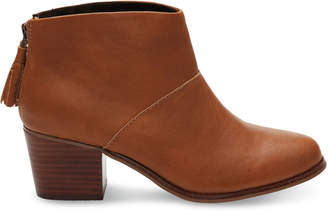 Warm Tan Full Grain Leather Women's Leila Booties $139.95 thestylecure.com