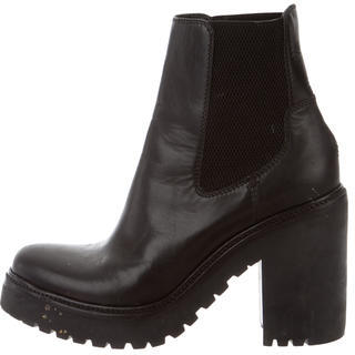 Moncler Moncler Leather Ankle Boots