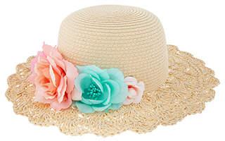 Monsoon Shimmer Flower Crochet Floppy Hat