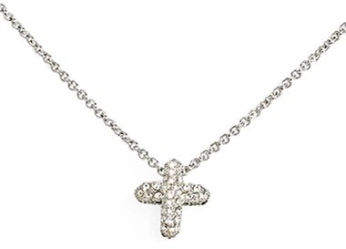 Judith Jack Reversible Pavé Cross Pendant Necklace