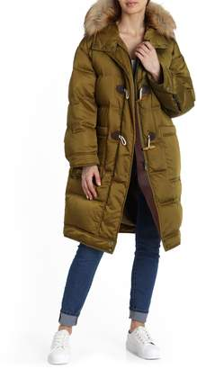 AVEC LES FILLES Water Resistant Insulated Parka with Faux-Fur Trim