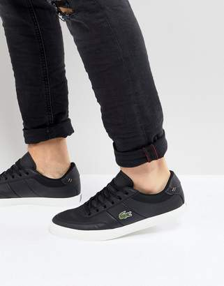 Lacoste Court Master Sneakers In Black