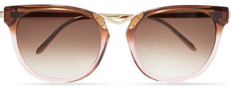 Thierry Lasry - Gummy Cat-eye Acetate And Gold-plated Sunglasses - Pink $600 thestylecure.com