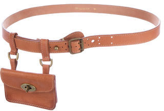 Mulberry Leather Pouch Belt $95 thestylecure.com