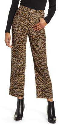 Levi's Ribcage Leopard Straight Leg Corduroy Pants