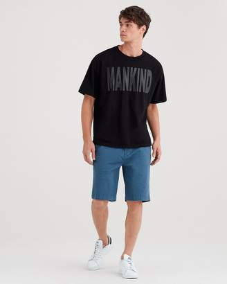 7 For All Mankind Total Twill Chino Short in Blue Wave