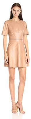 KENDALL + KYLIE Women's Multi Zip Leather Dress,S