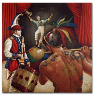 "Alegria Edgar Barrios 'Prelude Alegria' Canvas Art - 18"" x 18"""