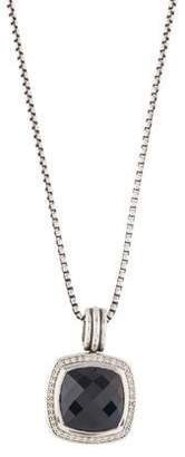 David Yurman Onyx & Diamond Albion Pendant Necklace